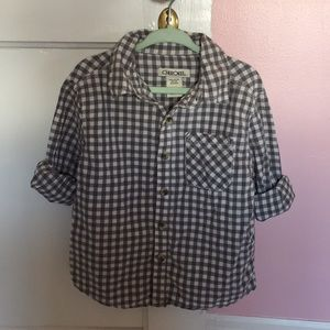 Plaid button up shirt 3T CHEROKEE